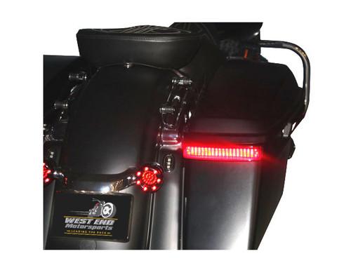 Custom Dynamics Saddlebag Lights for Harley Davidson '14-Up OEM Saddlebags - Gloss Black/Red Lens