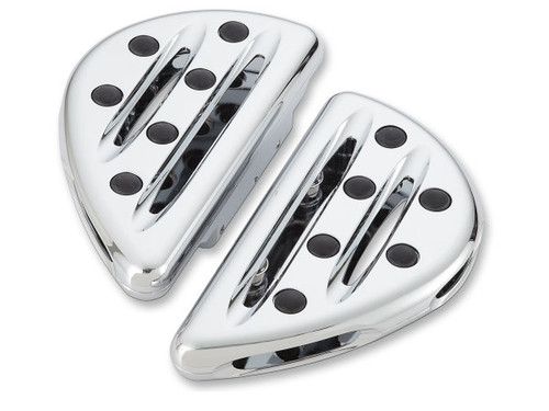 Arlen Ness Deep Cut Passenger Floorboards for Harley Models with OEM Floorboards '93-Up - Chrome Pair