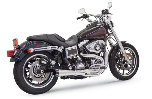 Bassani Road Rage II Mega Power System for '91-17 Harley Davidson Dyna Models (except FLD) - Chrome