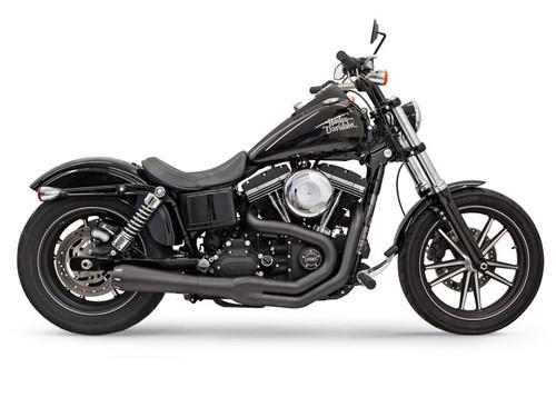 Bassani Road Rage II Mega Power System for '91-17 Harley Davidson Dyna Models (except FLD) - Black