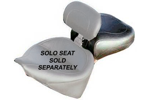 *CLEARANCE* Mustang  Wide Recessed Rear Seat (for Driver Backrest Solos) on Softail FXST '06-07 & Fat Boy FLSTF 2007 w/ 200mm Wide Tire -Vintage/Plain