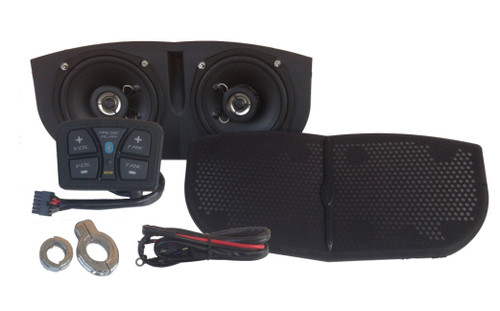 Hogtunes Bluetooth Enabled Speaker System for Memphis Shades Batwing Fairings