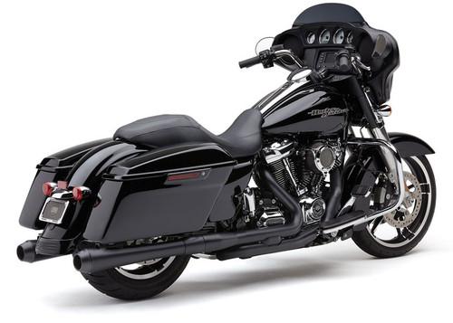 Cobra El Diablo Slip On Mufflers for Harley Davidson Touring Models '17-Up - Black