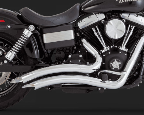 Vance & Hines Big Radius 2-into-2 Exhaust System for Harley Davidson Dyna Models '06-17 - Chrome