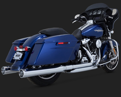 Vance & Hines 4 inch Monster Rounds for Harley Davidson Touring Models '17-Up - Chrome