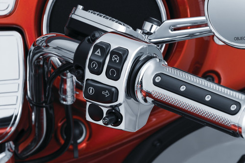 Kuryakyn Switch Housings for Harley Davidson '14-Up Electra Glides, Road Glides, Road Kings, Street Glides & Trikes - Chrome