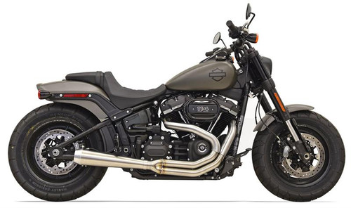 Bassani Road Rage 2-into-1 Stainless for Harley-Davidson Fatbob Models '18-Up