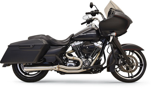 Bassani Road Rage III Short 2-Into-1 Stainless Exhaust for '07-16 Touring Models