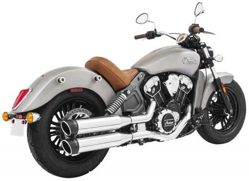 Freedom Performance Exhaust 4 inch Liberty Slip On Mufflers for Indian Scout Models '15-Up (Select Finish)
