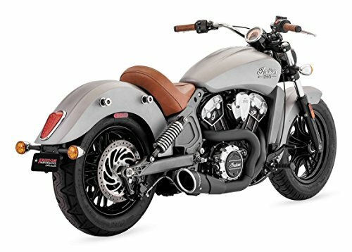 Freedom Performance Exhaust 4.5 inch Combat 2 into 1 System for Indian Scout Models '15-Up (Select Finish)