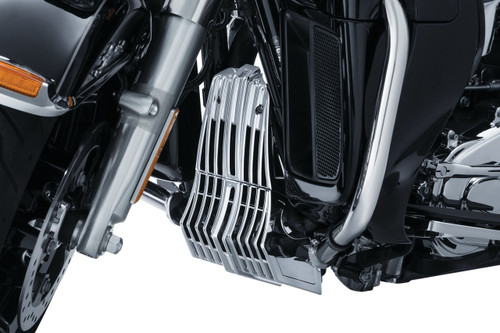 Kuryakyn Precision Coolant Pump Cover for Harley-Davidson '17-Up Twin Cooled Touring Models (Choose Black or Chrome)