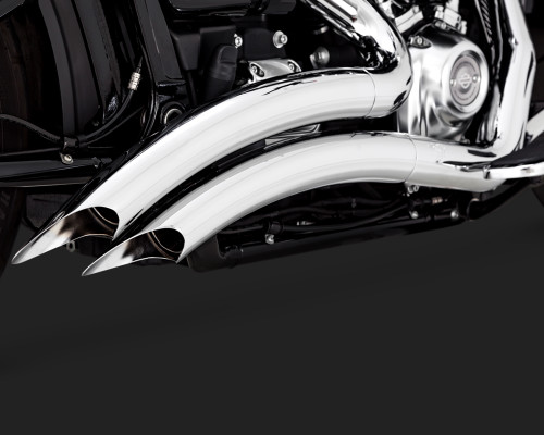Vance & Hines Big Radius for '18-Up Harley Davidson FXDR 114, Fat Boy & Breakout Softail Models - Chrome