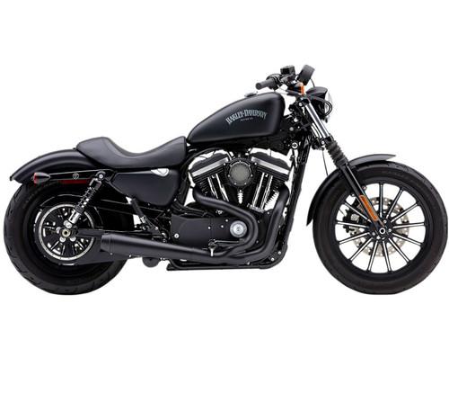 Cobra El Diablo 2-into-1 Exhaust for Harley Davidson Sportster Models '14-Up - Black with Black Tips