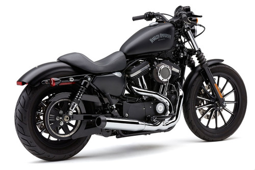 Cobra El Diablo 2-into-1 Exhaust for Harley Davidson XL Sportster Models '14-Up - Chrome with Billet Tip
