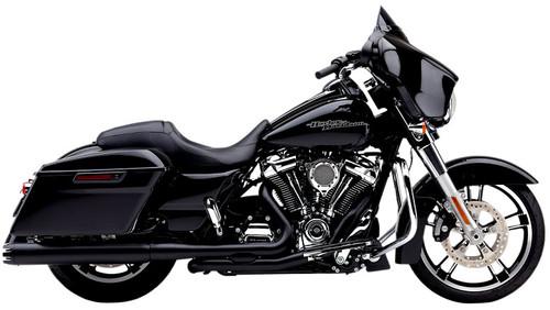 Cobra Dual Bung Pro Chamber Dual Headpipes for '17-Up Harley Davidson Touring Models - Black