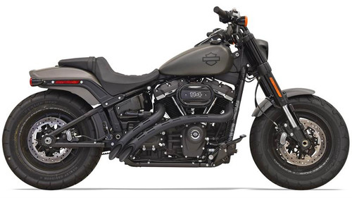 Bassani Radius Sweepers for 2018-Up Harley Davidson Softail Models - Slotted Heat Shield Black (Click for Fitment)