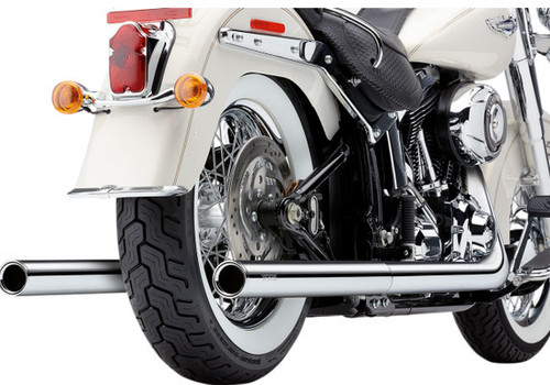 Cobra Bad Hombre Dual Exhaust for Harley Davidson Softail Models '12-17 - Chrome