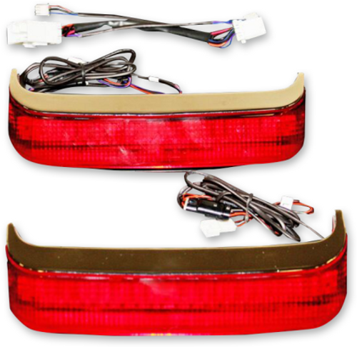 Custom Dynamics Saddlebag Lights for Harley Davidson FL '97-13 OEM Saddlebags - Chrome/Red Lens