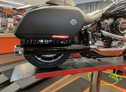 TAB Performance Tip Compatible Slip On Mufflers for '18-Up Harley Davidson Sport Glide - Chrome