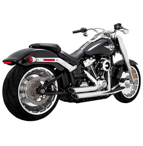 Vance & Hines Shortshots Staggered for 2018-Up FXDR 114, Fat Boy & Breakout Softail Models - Chrome