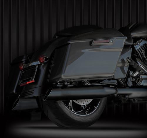 RCX 4 inch Slash Up Slip On Mufflers for Harley Davidson Touring Models '17-Up - Chrome or Black