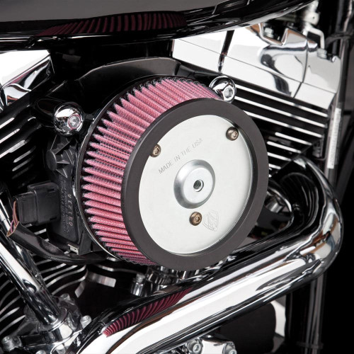 Arlen Ness Big Sucker Stage 1 Performance Air Filter Kit for Harley Davidson Touring Models '08-13 - Black