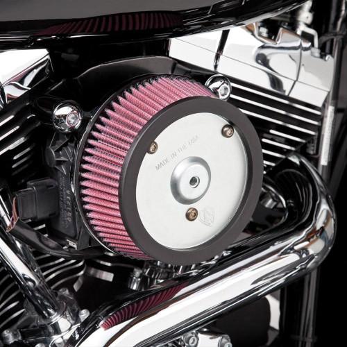 Arlen Ness Big Sucker Stage 1 Performance Air Filter Kit for Harley Davidson Touring Models '08-13 - Black