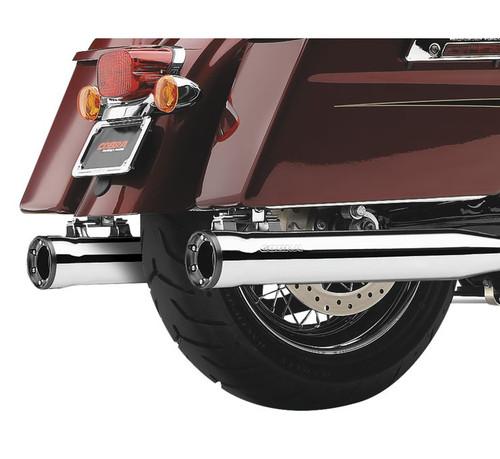 Cobra 3 inch RPT Slip On Mufflers for Harley Davidson Touring Models '17-Up - Chrome