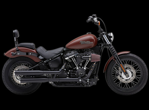 Cobra 3 inch RPT Slip On Mufflers for '18-Up Harley Davidson Softail Models Black (Click for fitment)