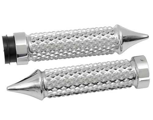 Eddie Trotta Designs Billet Cross Cut Grips for '08-Up Harley Davidson Touring & Softail Models - Chrome (Click for fitment)