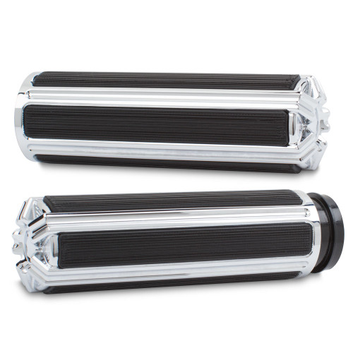 Arlen Ness 10 Gauge Grips for '08-Up Harley Davidson Touring, '16-Up Softail (Click for Fitment) Chrome