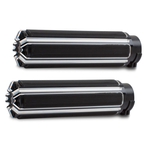 Arlen Ness 10 Gauge Grips for '08-Up Harley Davidson Touring, '16-Up Softail (Click for Fitment) Black