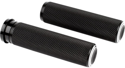 Arlen Ness Fusion Grips for '08-Up Harley Davidson Touring, '16-Up Softail (Click for Fitment) Dual Ring Black Anodized
