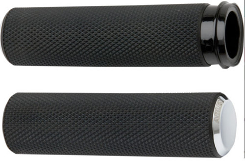 Arlen Ness Fusion Grips for '08-Up Harley Davidson Touring, '16-Up Softail (Click for Fitment) Knurled Chrome