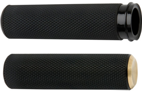 Arlen Ness Fusion Grips for '08-Up Harley Davidson Touring, '16-Up Softail (Click for Fitment) Knurled Brass