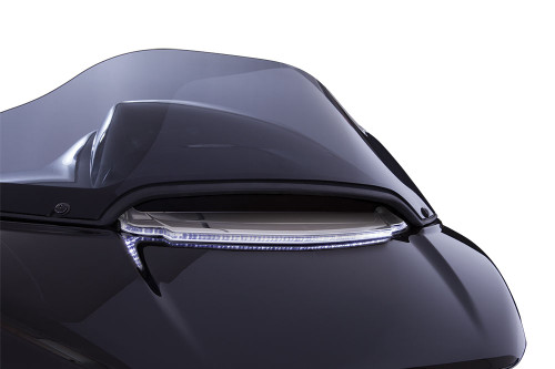 Ciro Lighted Vent Trim for '15-Up Harley Davidson Road Glide Models - Chrome