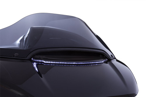 Ciro Lighted Vent Trim for '15-Up Harley Davidson Road Glide Models - Black