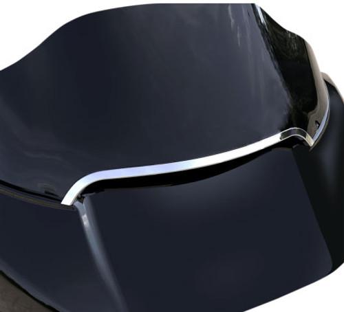 Ciro Center Windshield Trim for '15-Up Harley Davidson Road Glide Models (Select Chrome or Black)
