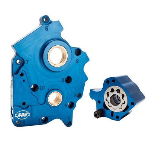 S&S Cycle Oil Pump and Cam Support Plate Kit for '17-Up Harley Davidson Milwaukee Eight Engines
