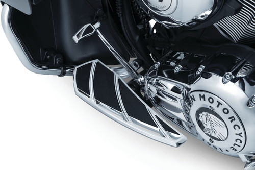 Kuryakyn Phantom Driver Floorboards for Indian Touring Models '14-Up (Choose Chrome or Black)