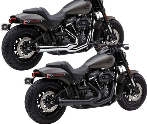 Cobra El Diablo 2-into-1 Exhaust for 18-Up Harley Davidson Fat Bob FXFB (Choose Chrome or Black)