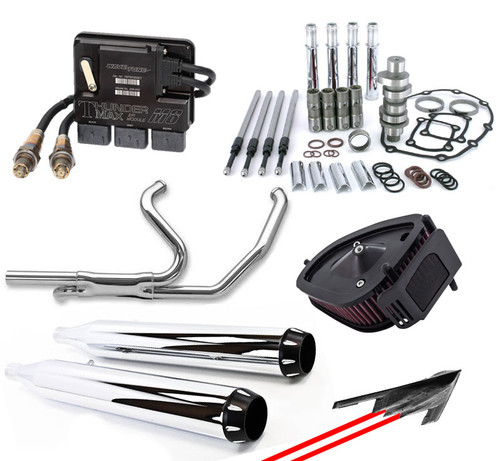 Stealth Stage II Performance Package Deluxe for '17-Up Harley-Davidson Touring Models - Chrome