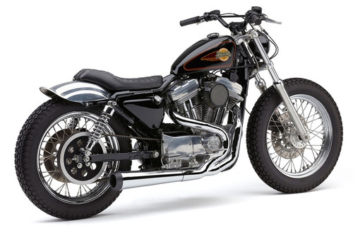 Cobra El Diablo 2 into 1 Exhaust for '86-03 Harley Davidson Sportster Models - Chrome