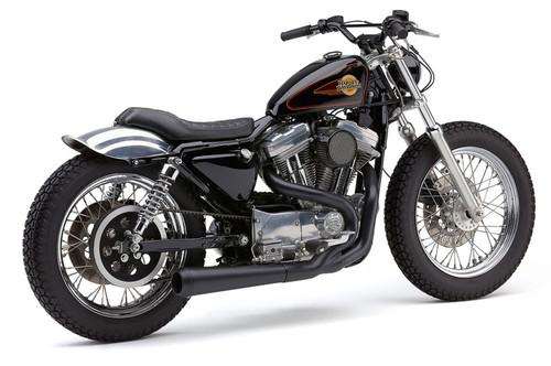 Cobra El Diablo 2 into 1 Exhaust for '86-03 Harley Davidson Sportster Models - Black