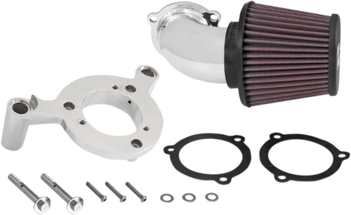 K&N RK Series Aircharger Intake Systems for '08-16 Harley-Davidson Touring & Trike Models with Fairing Lowers - Bright Chrome
