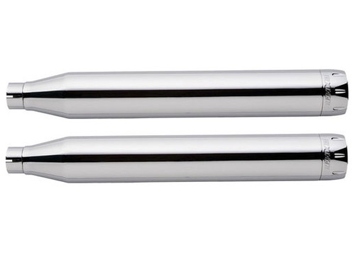 Freedom Performance 3-1/4 inch Racing Slip-Ons for '18-Up Harley Davidson M8 Softail Models - Chrome with Chrome Tips