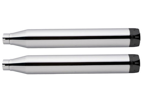 Freedom Performance 3-1/4 inch Racing Slip-Ons for '18-Up Harley Davidson M8 Softail Models - Chrome with Black Tips