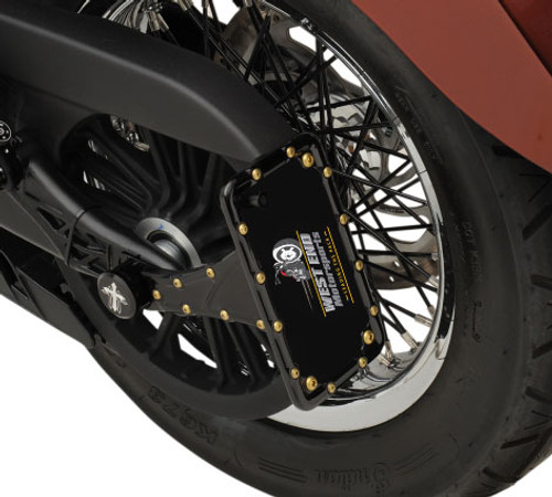 Carl Brouhard Designs Bomber Series Side Mount License Plate Mounts for '15-Up Indian Scout (Chrome or Black)