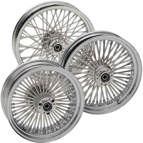 RideWright Laced Wheels for '15-Up Indian Scout - 50 & 60 Spoke (Front and Rear)