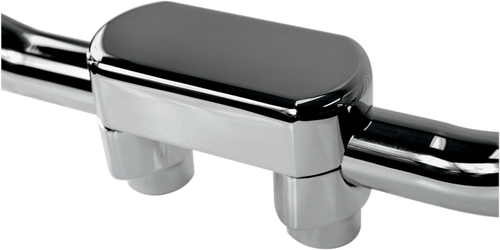 Drag Specialties Handlebar Top Clamp and Risers for 1 1/2 inch Thick Handlebars (1.5 inches to 6 inches Tall) - Chrome or Black
